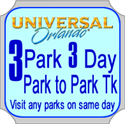Picture of Universal Orlando 3 PARK, 3 Day Park to Park Ticket - Use within 7 days from first day of use.