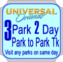 Picture of Universal Orlando 3 PARK 2 Day Park to Park Ticket - Use within 7 days from first day of use.