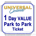 Picture of Universal - 1-Day VALUE Park-to-Park Ticket entitles one guest admission to Universal Studios Florida™ and Universal's Islands of Adventure™ for one (1) VALUE seasonal calendar day