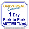 Picture of Universal - 1 Day Pk 2 Pk ANYTIME BASE ticket entitles guest admission to Universal Studios Florida™ OR Universal's Islands of Adventure™ for one calendar day - NO Black Out Dates.