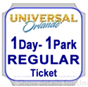 Picture of Universal - 1 Day REGULAR BASE ticket. that entitles guest admission to Universal Studios Florida™ OR Universal's Islands of Adventure™ on any one (1) REGULAR calendar date