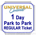 Picture of Universal - 1 day REGULAR Park to Park ticket that entitles guest admission to both Universal Studios Florida™ & Universal's Islands of Adventure™ for one calendar Regular dates.