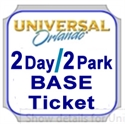 Picture of Universal - 2 Day 2 Park Base Ticket - One park per day. Either Universal Studios Florida™ OR Universal's Islands of Adventure™