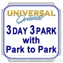 Picture of Universal - 3 Park - 3 Day Park to Park Ticket - Visit both Universal Studios and Islands of Adventure ON SAME DAY. Dose not include Volcano Bay water park.