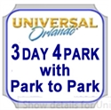 Picture of Universal - 3 Park - 4 day Park to Park ticket - Access to both Universal Studios or Islands of Adventure but no access to Volcano Bay